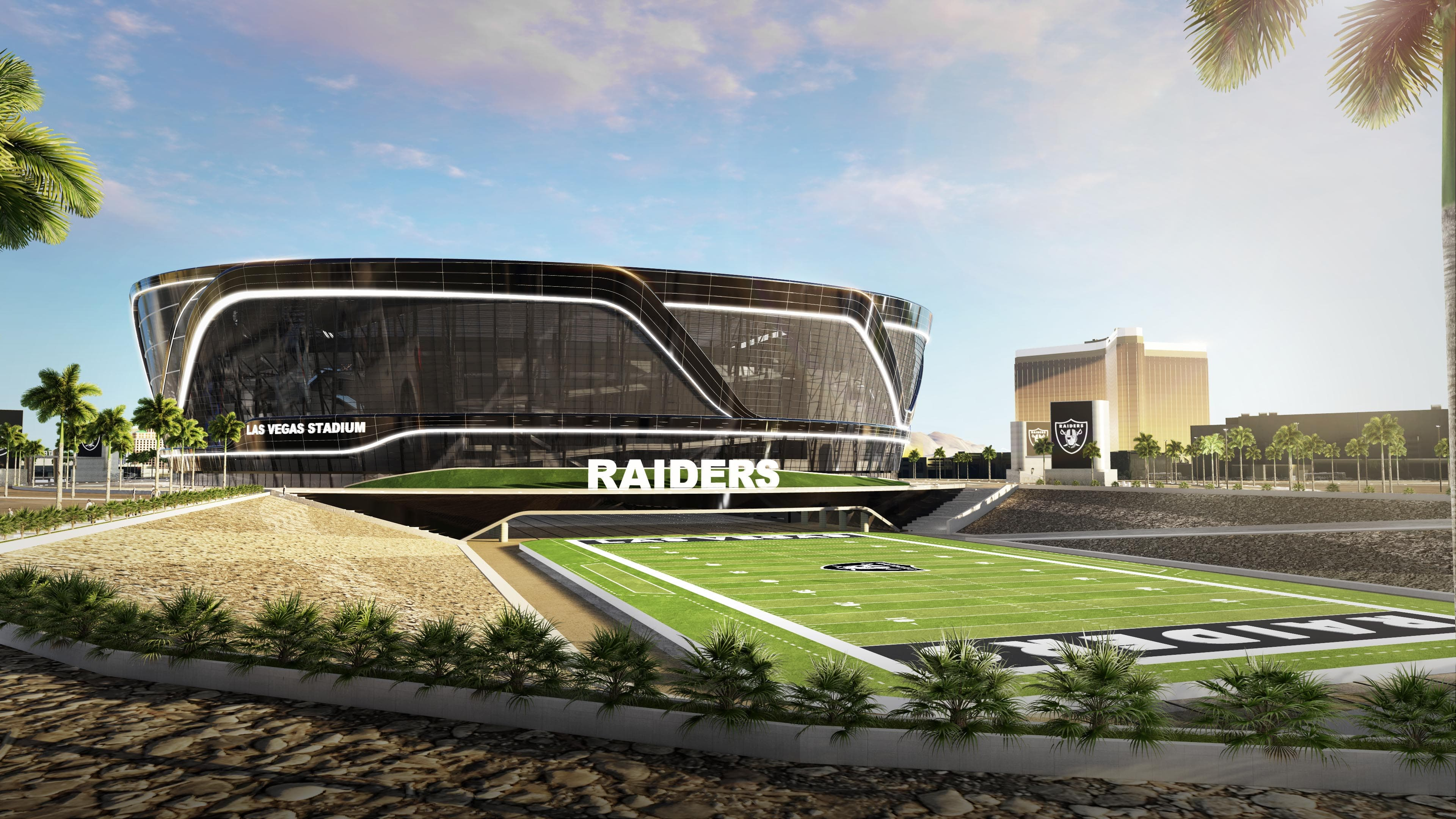 EXCLUSIVE: Take a tour of the new Las Vegas NFL stadium ...