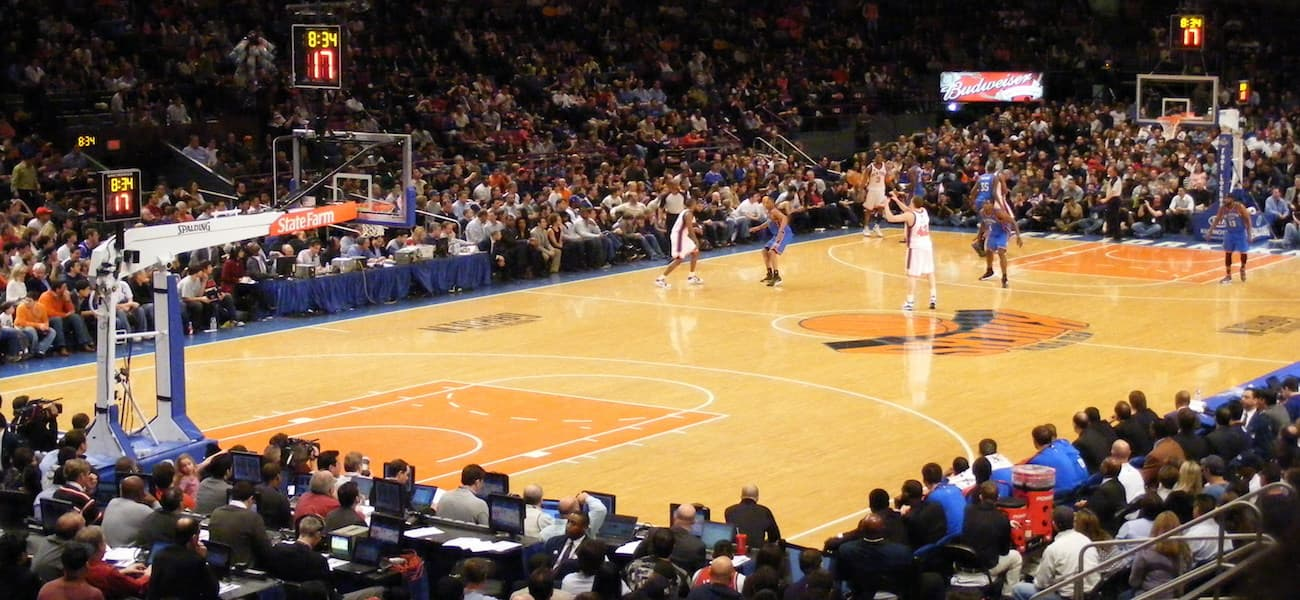 Madison square garden falls silent as knicks trial no music strategy the stadium business Madison square garden basketball