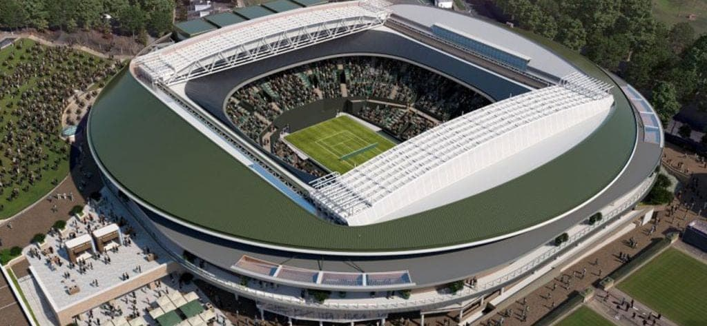 Wimbledon No 1 Court Retractable Roof Covered By New 163 175m