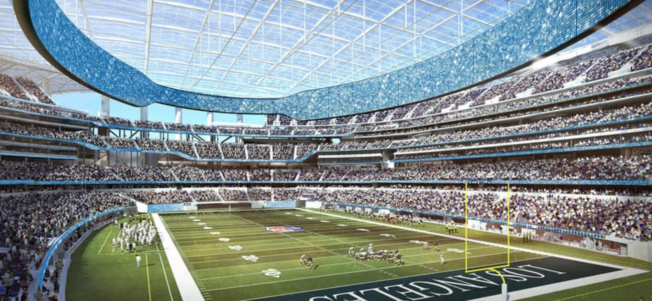 LA Chargers interior of new stadium