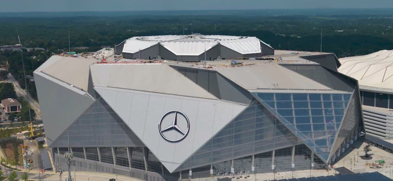 Mercedes benz stadium signs up latest partner the for Who owns mercedes benz stadium