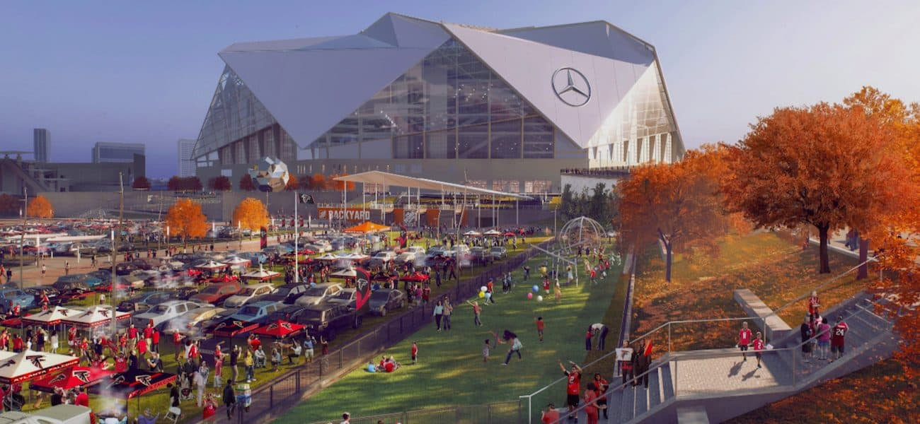 Mercedes-Benz Stadium Home Depot Backyard